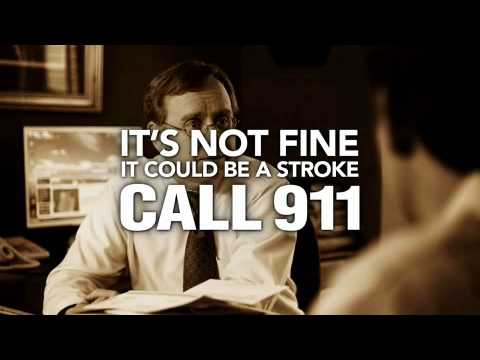Stroke Symptom: Slurred Speech-Call 911