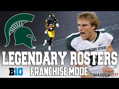 Legendary Michigan State Roster   Madden 17 Connected Franchise   Kirk Cousins + Le