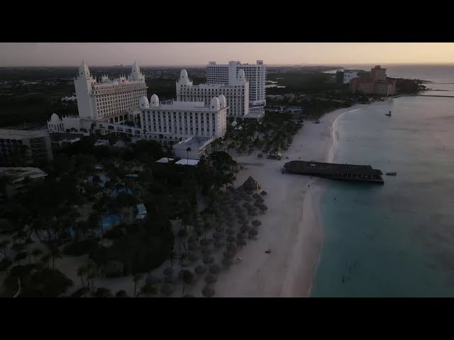Aruba Rui Palace Hotel and the high rise hotels  Part 1