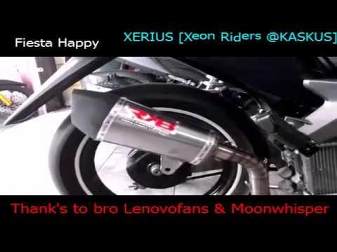 Test Knalpot Exhaust Racing RX8 Tsukigi di Yamaha Xeon GT125