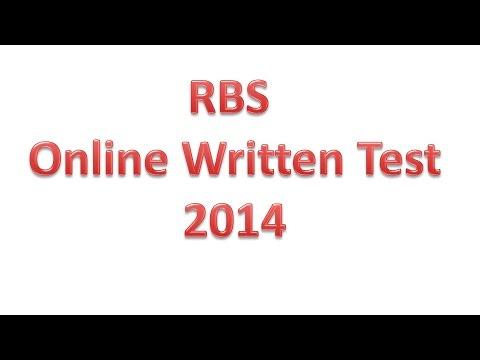 RBS (Royal Bank Of Scotland) Written Test For Java Developer Position 2014    HD  