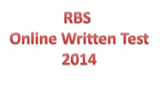 RBS (Royal Bank Of Scotland) Written Test For Java Developer Position 2014  | HD |