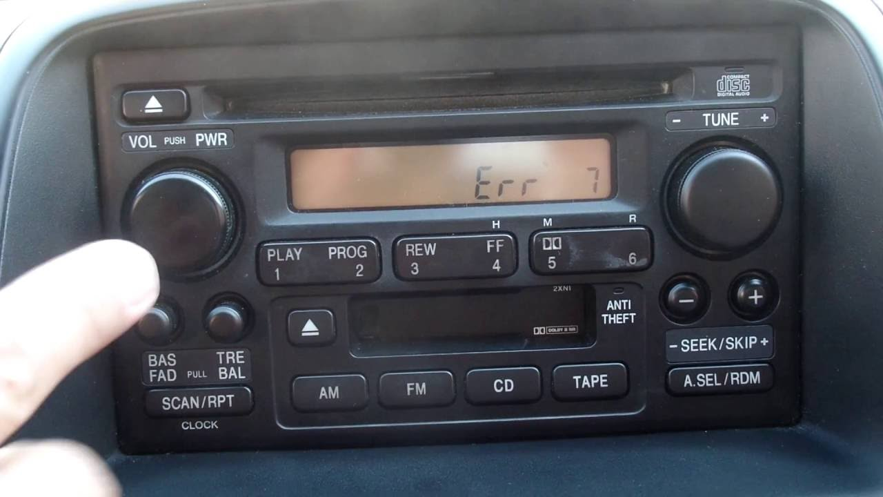 Encontrar Codigo De Radio De Un Honda Crv 2003 2006 Rapido Y Facil Youtube