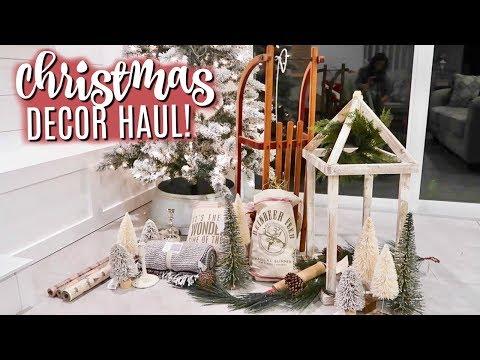 NEW CHRISTMAS DECOR HAUL 2019 🎄MODERN FARMHOUSE INSPIRED DECOR