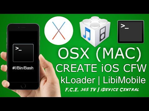 How To Build IOS Custom Firmware On OSX (MAC) | KLoader | IDeviceRestore For OSX