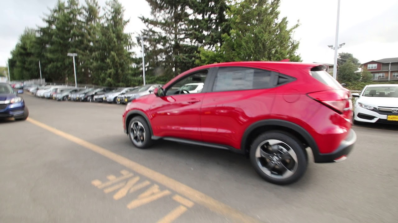 Honda Of Seattle >> 2018 Honda HR-V EX | Milano Red | JG700291 | Seattle | Burien | Renton | - YouTube