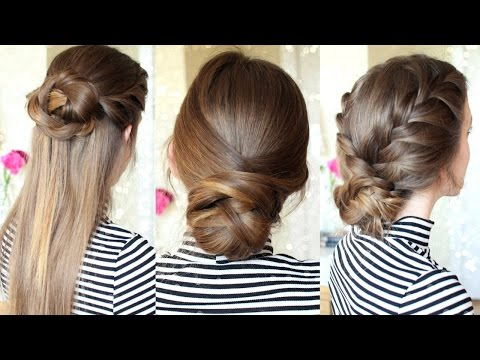 3 Easy Braided Hairstyles | Braided Updo | Braidsandstyles12