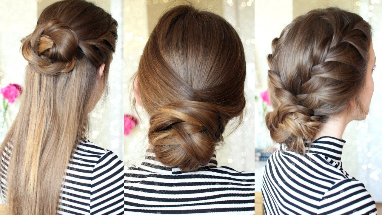 3 Easy Braided Hairstyles Braided Updo Braidsandstyles12 Youtube