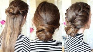 3 Easy Braided Hairstyles | Braided Updo | Braidsandstyles12