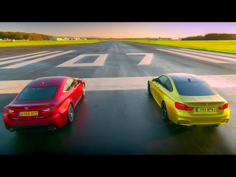 BMW M4 Coupé Vs Lexus RC F - Top Gear - Series 22 - BBC