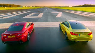 BMW M4 Coupé Vs Lexus RC F - Top Gear - Series 22 - BBC