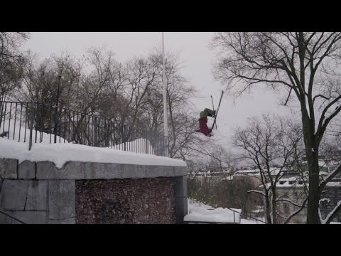 big mountain freeskiing i Stockholm