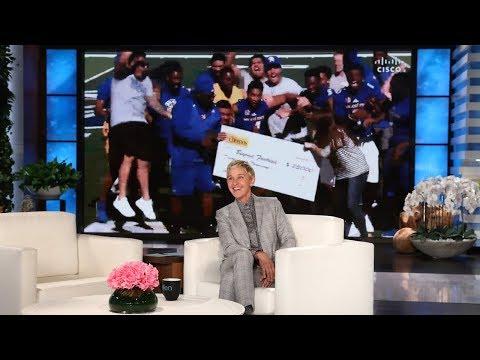 Ellen Surprises Coach Alonzo Carter & San Jose State University Football Team