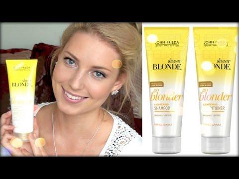 Review John Frieda Go Blonder Lightening Shampoo YouTube