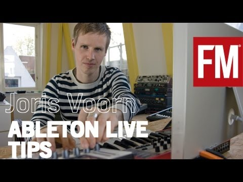 Joris Voorn explaining how he reworks loops in Ableton Live