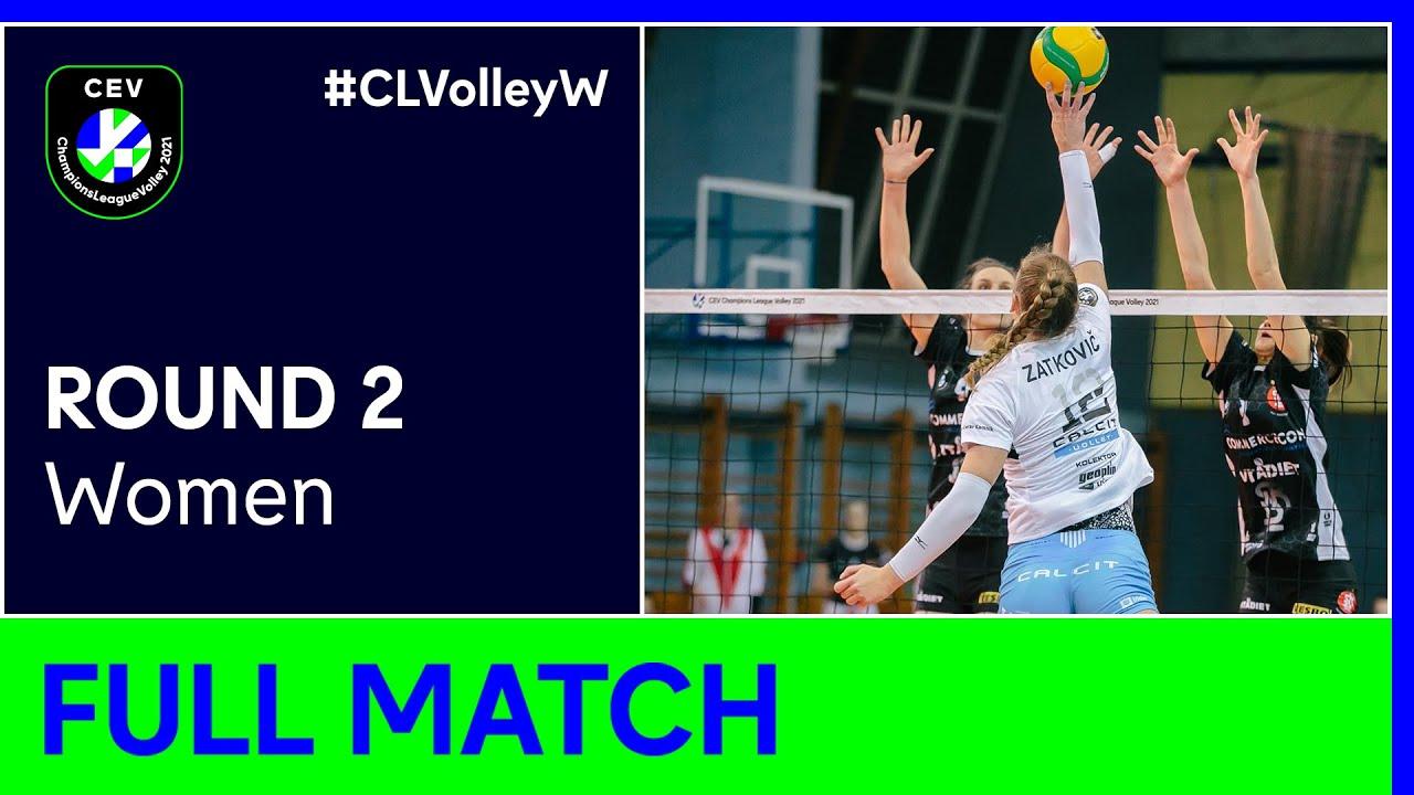 Calcit Volley KAMNIK vs. ŁKS Commercecon ŁÓDŹ - Champions League Volley 2021 Women R2