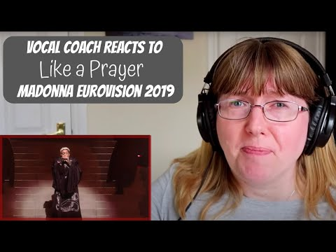 Vocal Coach Reacts to Madonna 'Like a prayer' Eurovision 2019