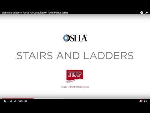 Stairs and Ladders- PA OSHA Consultation Focal Points Series