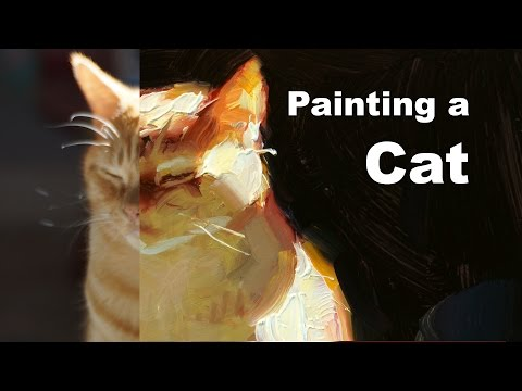 Painting a Cat - Painting Demo of 'Sun Cat'