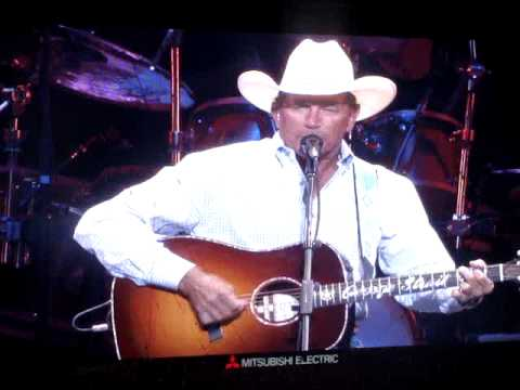 """George Strait singing """"Amarillo By Morning"""" at the opening of the Dallas Cowboys Stadium"""