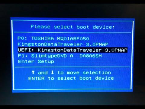 установка Windows с Usb флешки (iso образ) на ПК или ноут