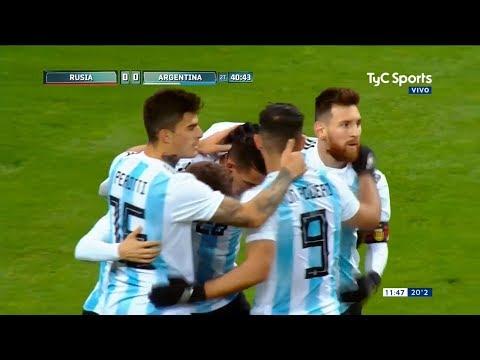 Argentina Vs Rusia (1-0) / Amistoso Internacional
