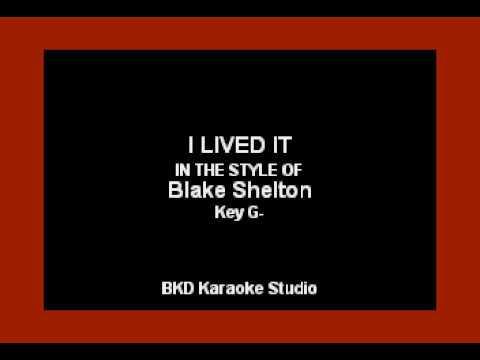 Blake Shelton - I Lived It (Karaoke Version)