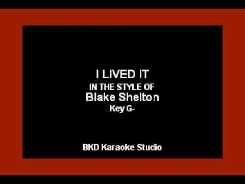 Blake Shelton - I Lived It (Karaoke Version)