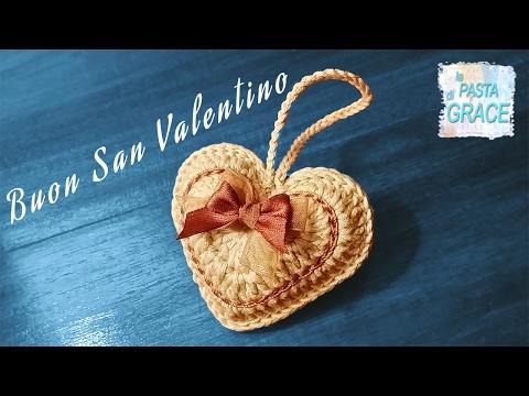 Cuore a Uncinetto 3D per un  Buon San Valentino