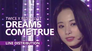 TWICE X RED VELVET - DREAMS COME TRUE   Line Distribution Intro: Je...