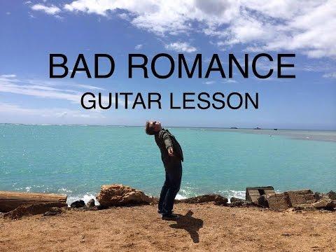 Bad Romance - Guitar Lesson