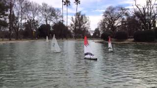 Sierra Model Yacht Club @ Plaza Park in Visalia, California