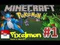 Minecraft: Pixelmon Adventure! S1 Ep. 1: Mudkip VS Treecko! (Pokemon in Minecraft!)