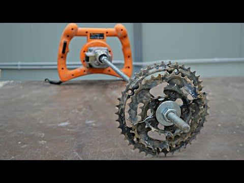 Making Garden Auger using Bicycle Parts thumbnail