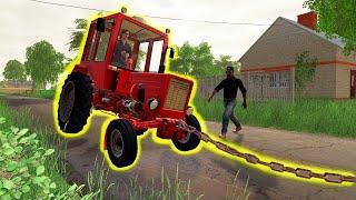 Holowanie Władimirec T-25 ♀️ Rolnicy z Miasta  Farming Simulator 19