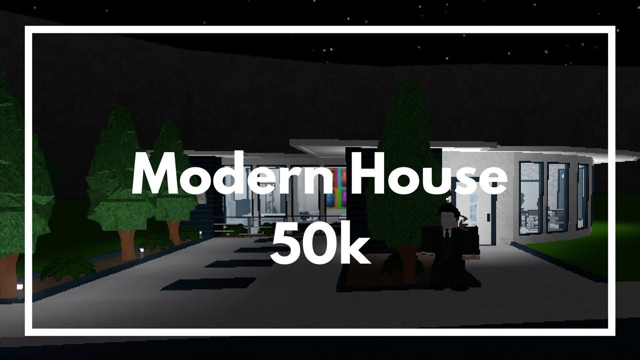 Roblox bloxburg 50k luxurious modern house gamepass