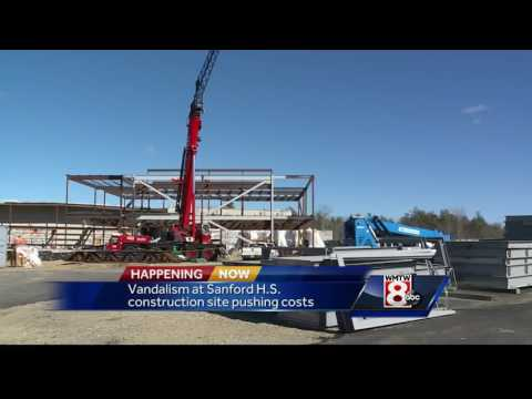 Sanford High School construction site hit by thieves, vandals