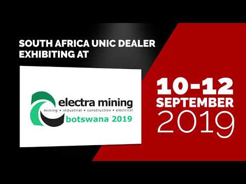 South Africa UNIC Dealer Exhibiting At Electra Mining 2019
