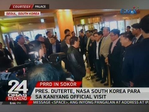 Pres. Duterte, nasa South Korea para sa kaniyang official visit