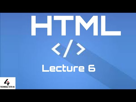 HTML Lecture 6 | Block formatting tag | HTML thumbnail