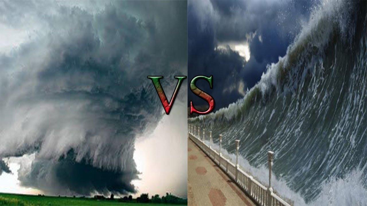 Mass destruction-Tornado vs Tsunami !