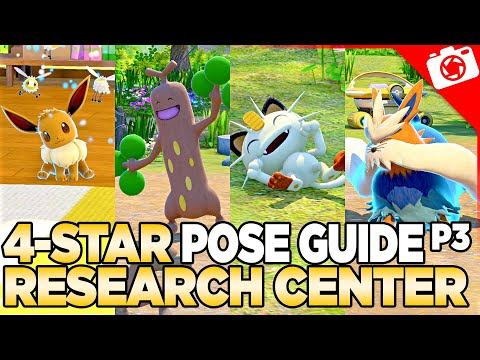 Research Center 4-Star Pose & Request Guide   New Pokemon Snap