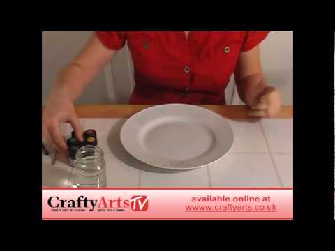 How To Paint Ceramic Dinner Plates Available At Crafty Arts Youtube