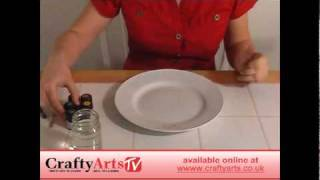 How to Paint Ceramic Dinner Plates - available at Crafty Arts