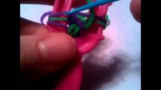 1 урок) фенечка из резинок «Французская коса»