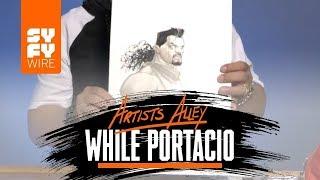 X-Men Comic Book Artist Whilce Portacio Sketches Bishop (Artists Alley) | SYFY WIRE