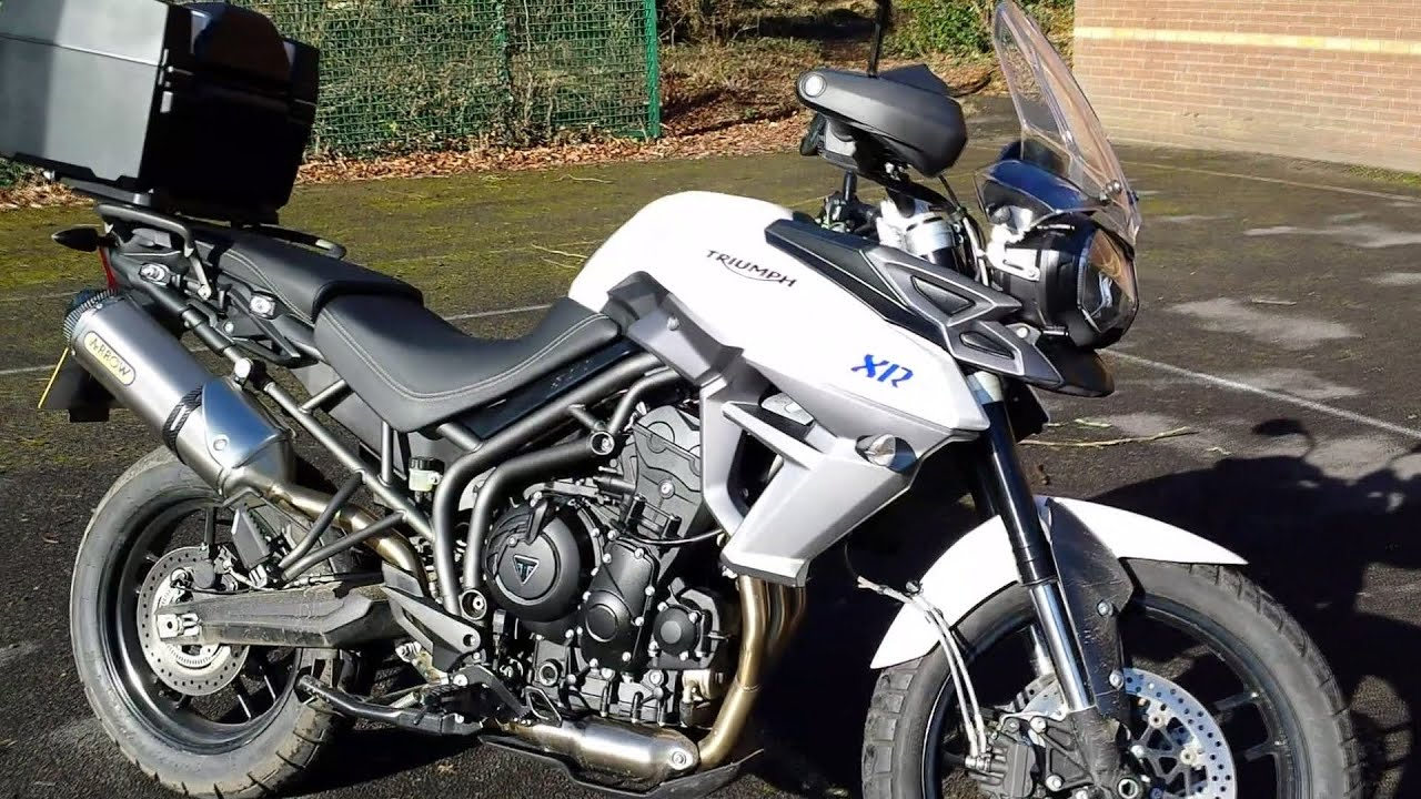 2015 triumph tiger 800 xrx arrow exhaust test ride & review - youtube