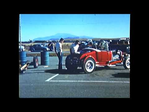 1959 Riverside Raceway candy apple red T Roadster  50's So Cal style