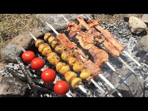 Армянский шашлык на природе/haykakan Xorovac /խորոված #хоровац  #шашлык