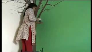 Gulmohar Wall Tree Painting By Babita Keshan